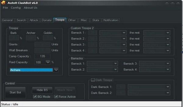 اموزش تصویری تنظیمات ربات کلش اف کلنز