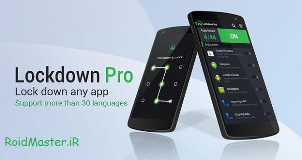 دانلود Lockdown Pro Premium–App Lock برنامه قفل گذاری روی برنامه های اندروید