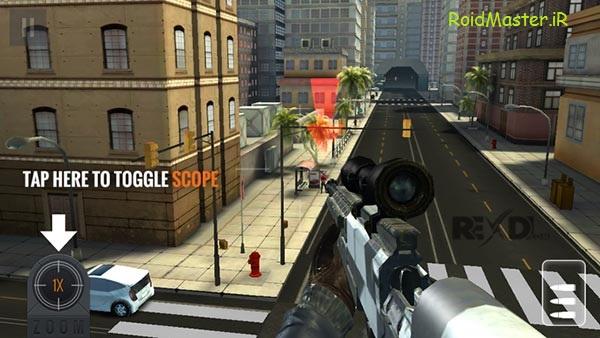 دانلود Sniper 3D Assassin بازی تک تیرانداز اندروید+مود