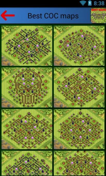 دانلود نرم افزار بهترین مپ های کلش آف کلنز Best Clash of clans maps