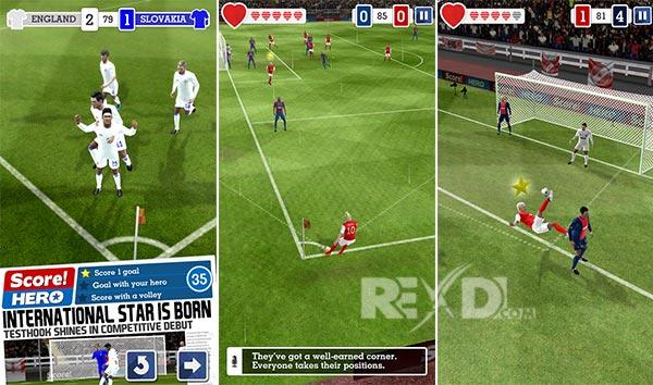 دانلود نسخه مود شده بازی Score! Hero با پول بینهایت
